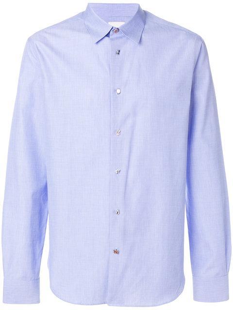 Paul Smith Charm Button Long Sleeve Shirt