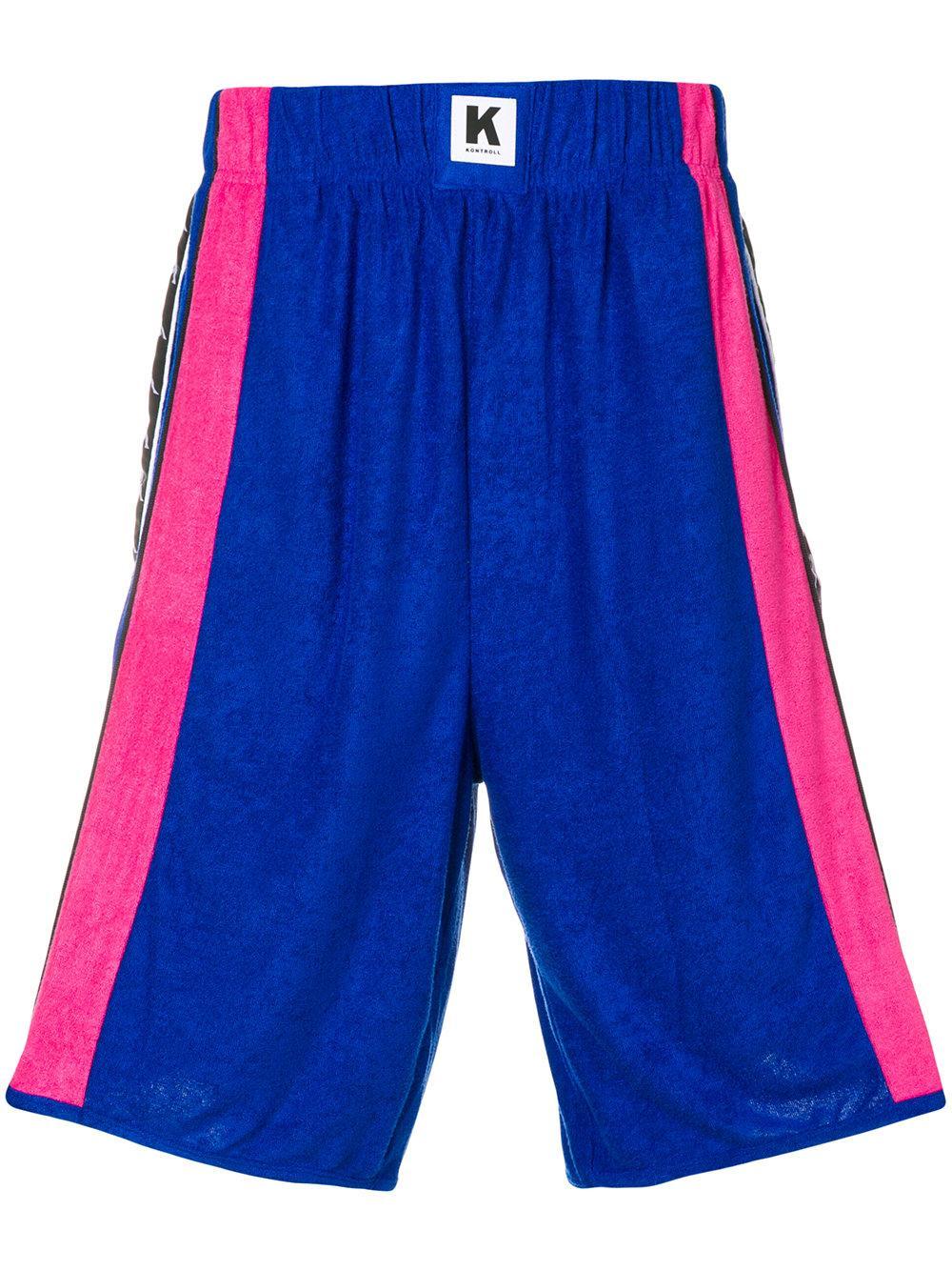 Kappa Logo Colour-block Shorts