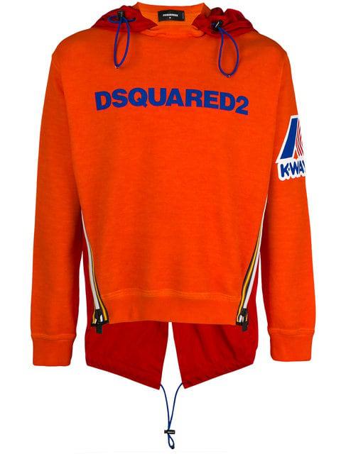 Dsquared2 K-way Hooded Sweatshirt - Orange