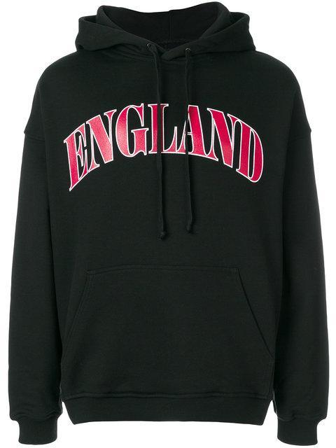 Represent England Print Hoodie In Black