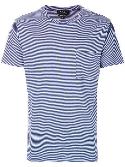 A.p.c. Striped T In Blue