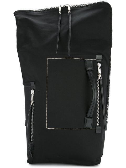Rick Owens Large Zip Around Backpack In Black