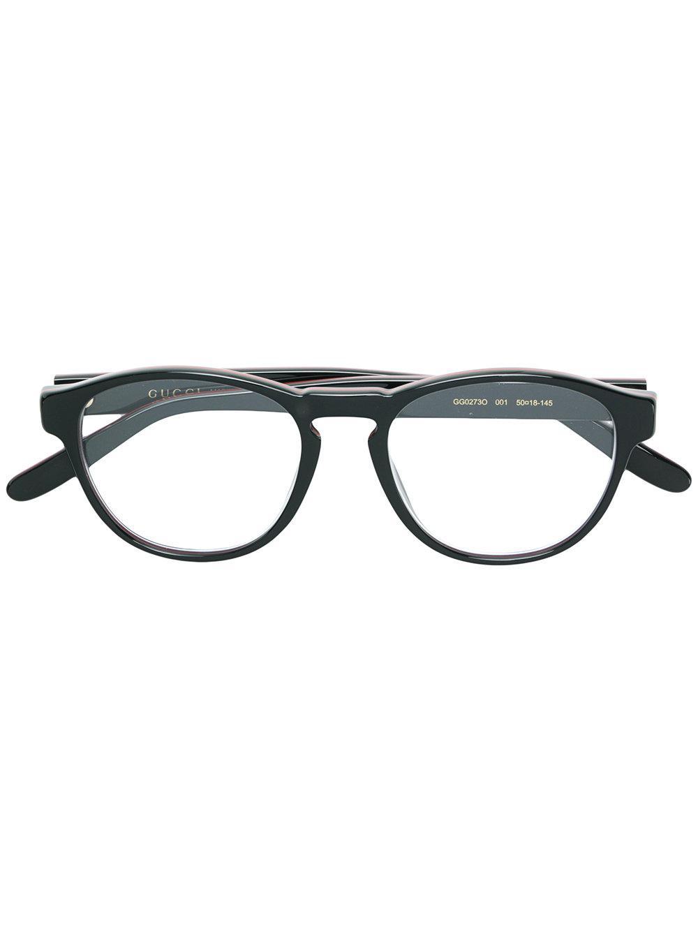 Gucci Eyewear Round Glasses - Black