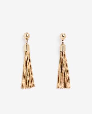 Ann Taylor Mini Tassel Earrings In Gold