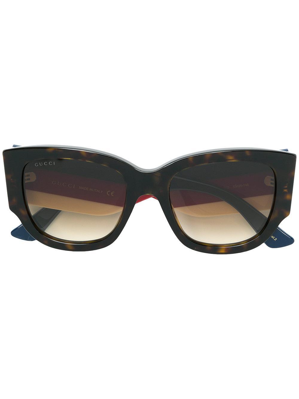 Gucci Square Sunglasses In Multicolour