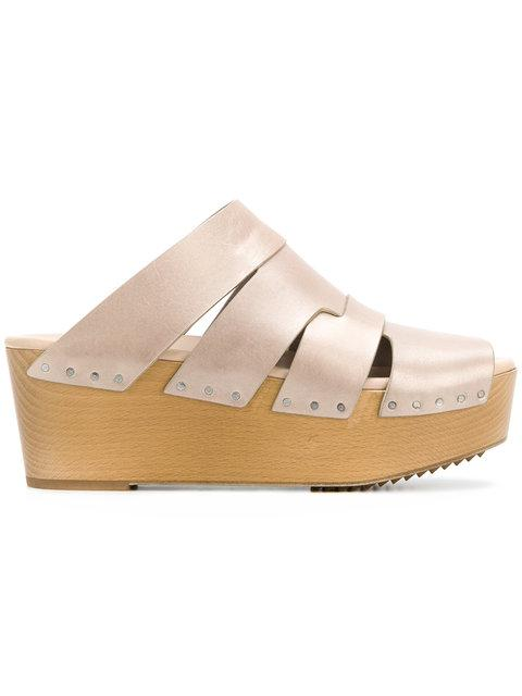 Rick Owens Platform Sandals - Neutrals In Nude & Neutrals