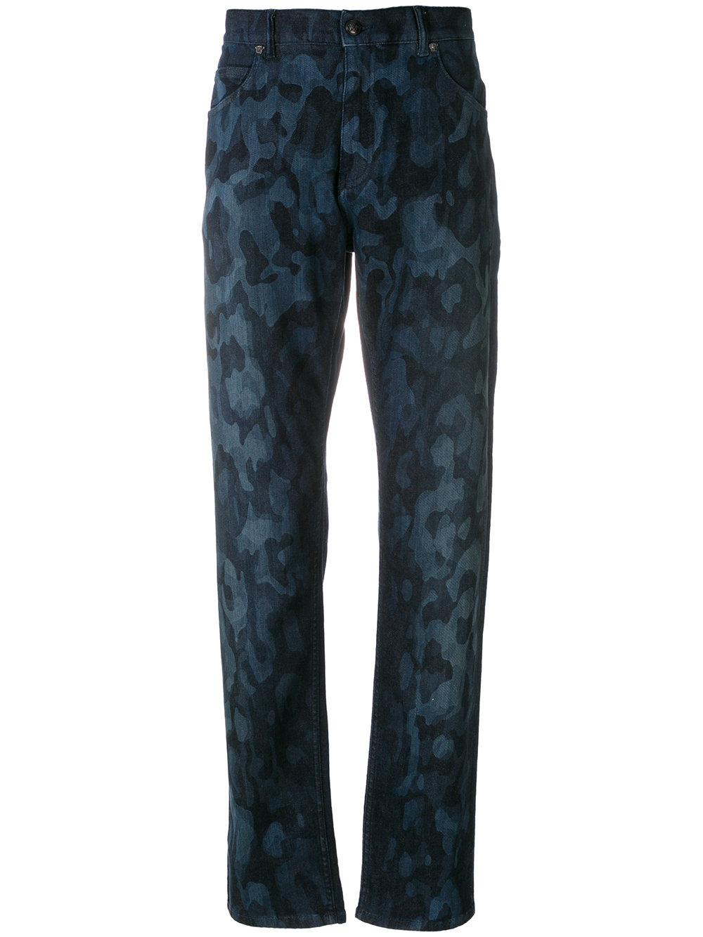 Versace Camouflage Print Jeans