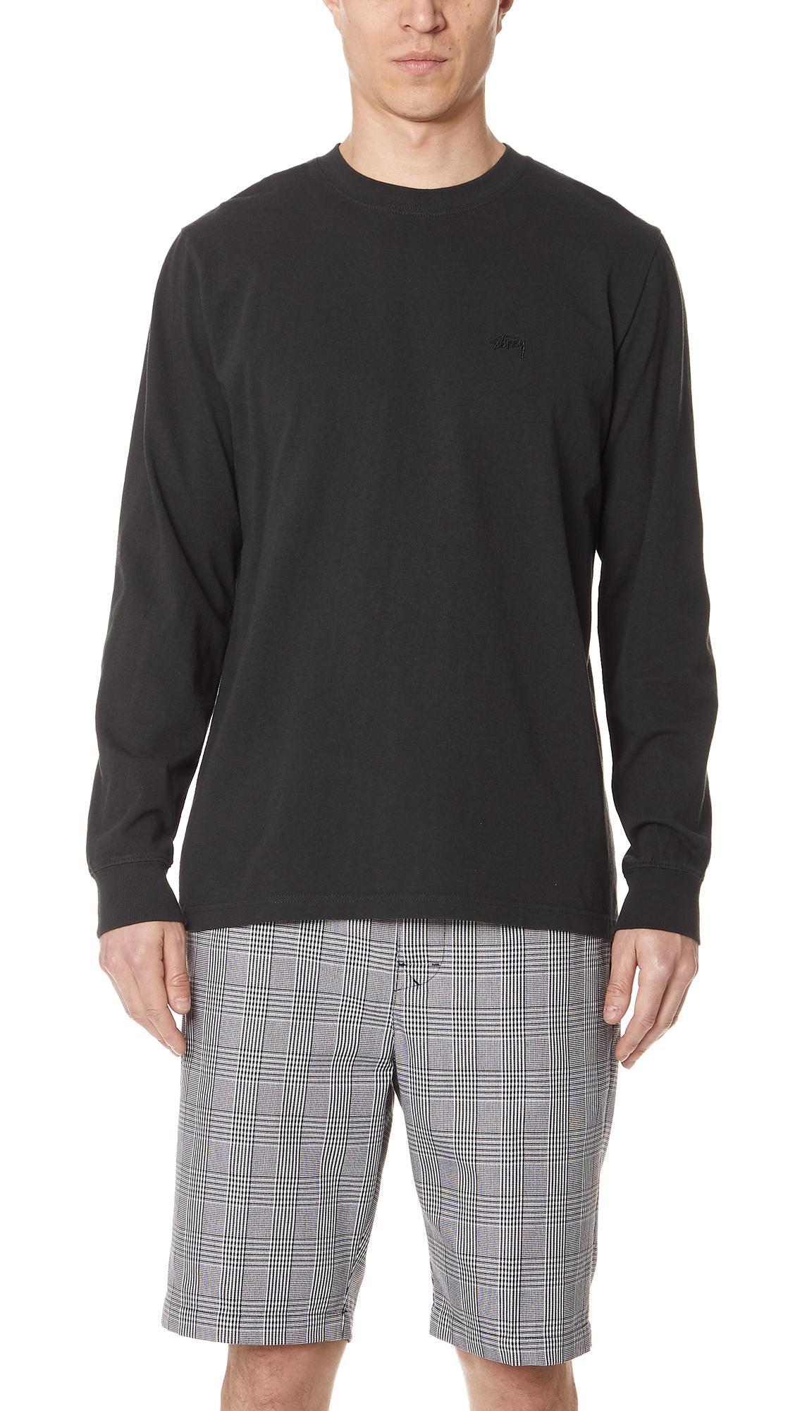 ddf40a86 Stussy Stock Long Sleeve Jersey Tee In Black | ModeSens