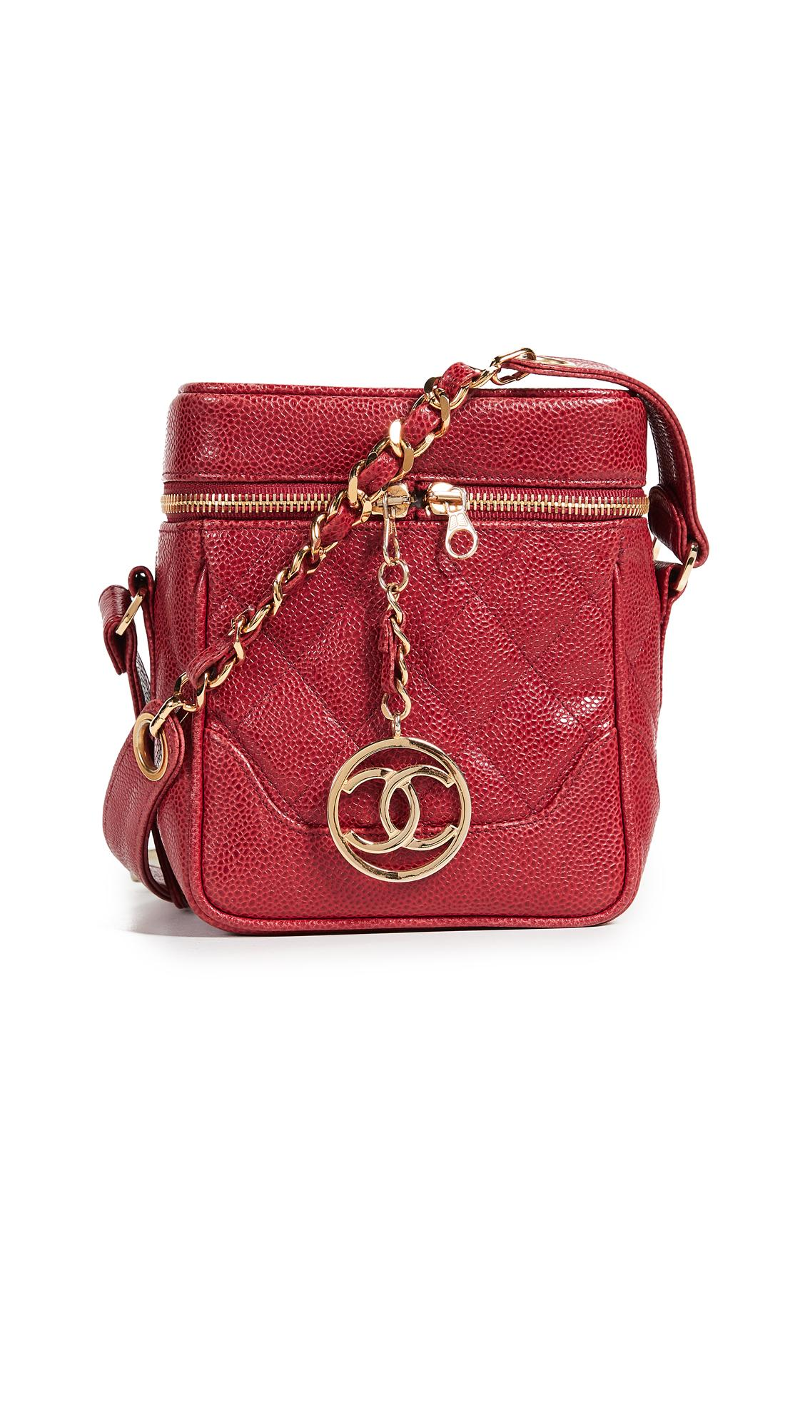 240a49a19428 What Goes Around Comes Around Chanel Caviar Boxy Mini Cross Body Bag In Red