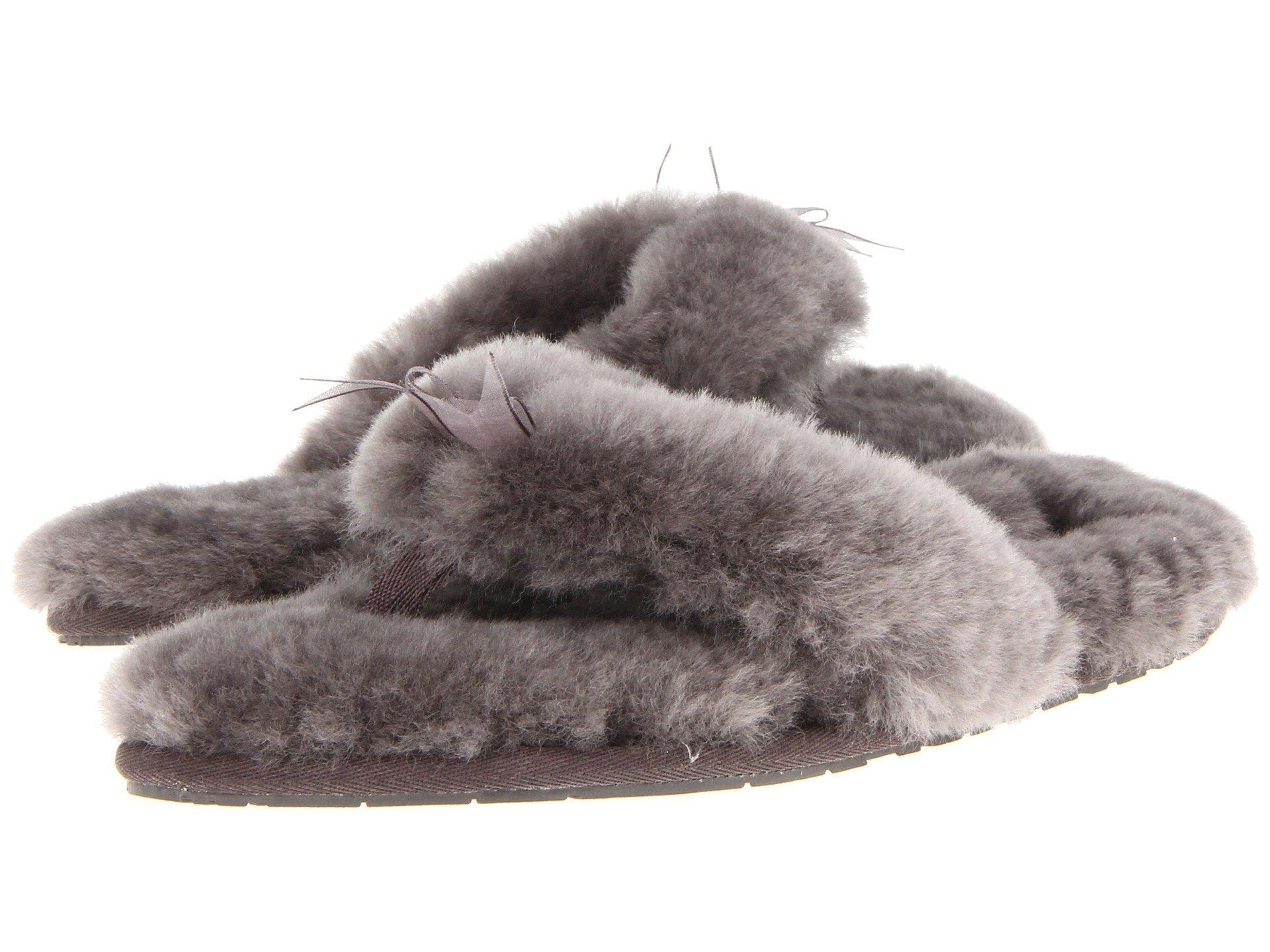 0763db2b4ee Fluff Flip Flop Ii in Grey Sheepskin