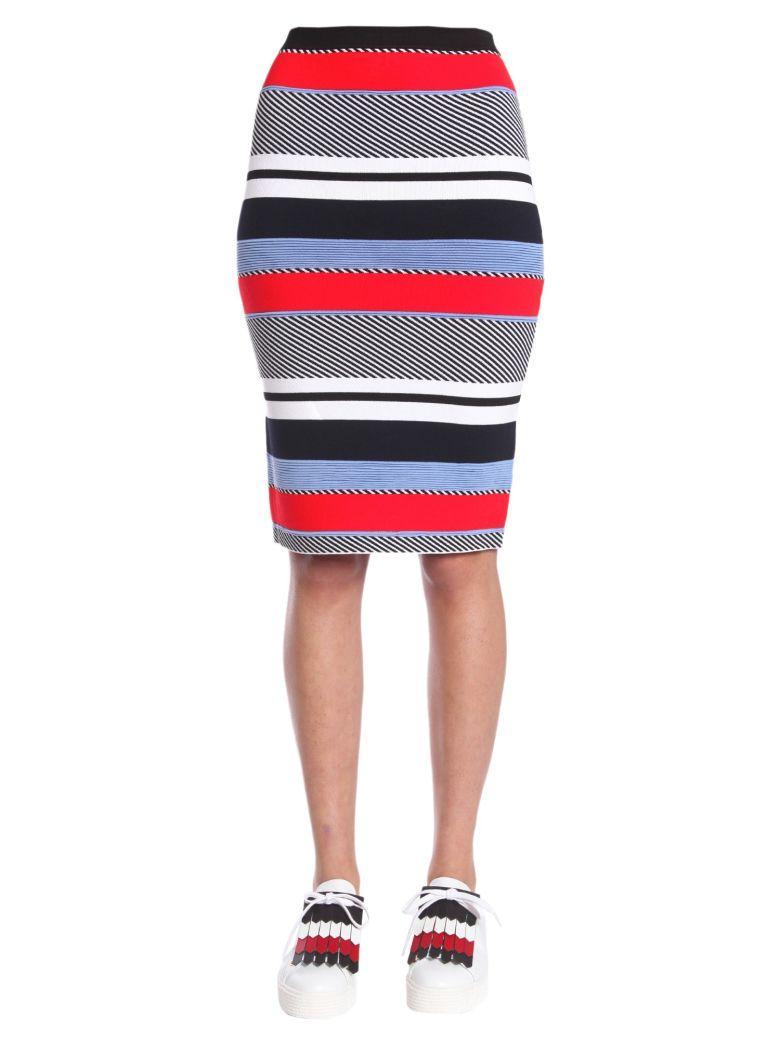 Tommy Hilfiger Stripe Pencil Skirt In Multicolor
