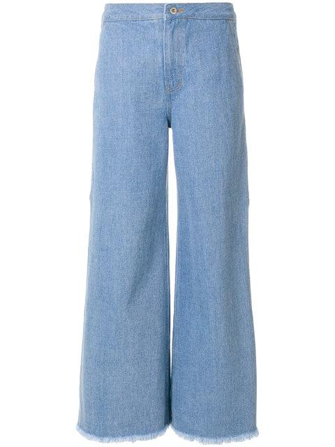 Neul Flared Fitted Trousers In Blue