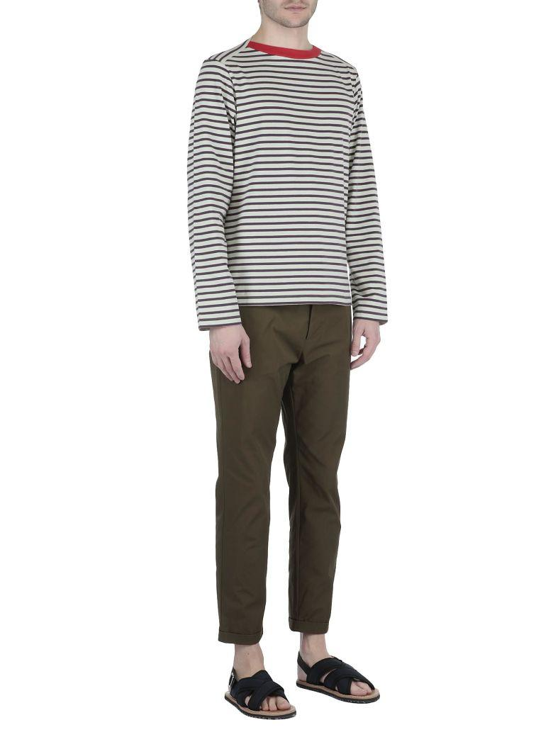 Marni Cotton Trousers In 003F Mint-Blue