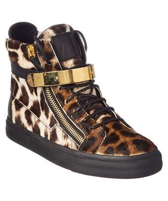 Giuseppe Zanotti Leopard Haircalf High In Brown