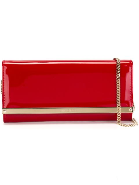 Jimmy Choo 'Milla' Patent Leather Wallet On A Chain - Red