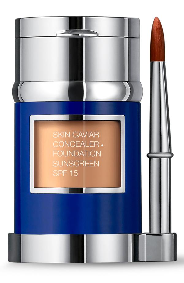 La Prairie Skin Caviar Concealer + Foundation Sunscreen Spf 15 In Warm Beige