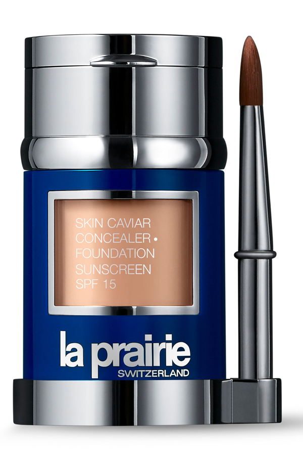 La Prairie Skin Caviar Concealer + Foundation Sunscreen Spf 15 In Creme Peche