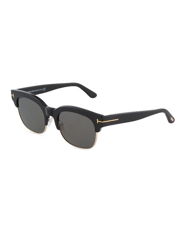 993d3db103a Tom Ford Harry 53Mm Half-Rim Sunglasses In Black Gray