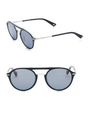 Web 52mm Aviator Sunglasses In Grey Blue
