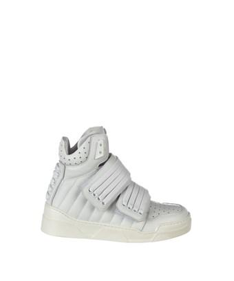 Les Hommes Padded Hi-Top Sneakers In White