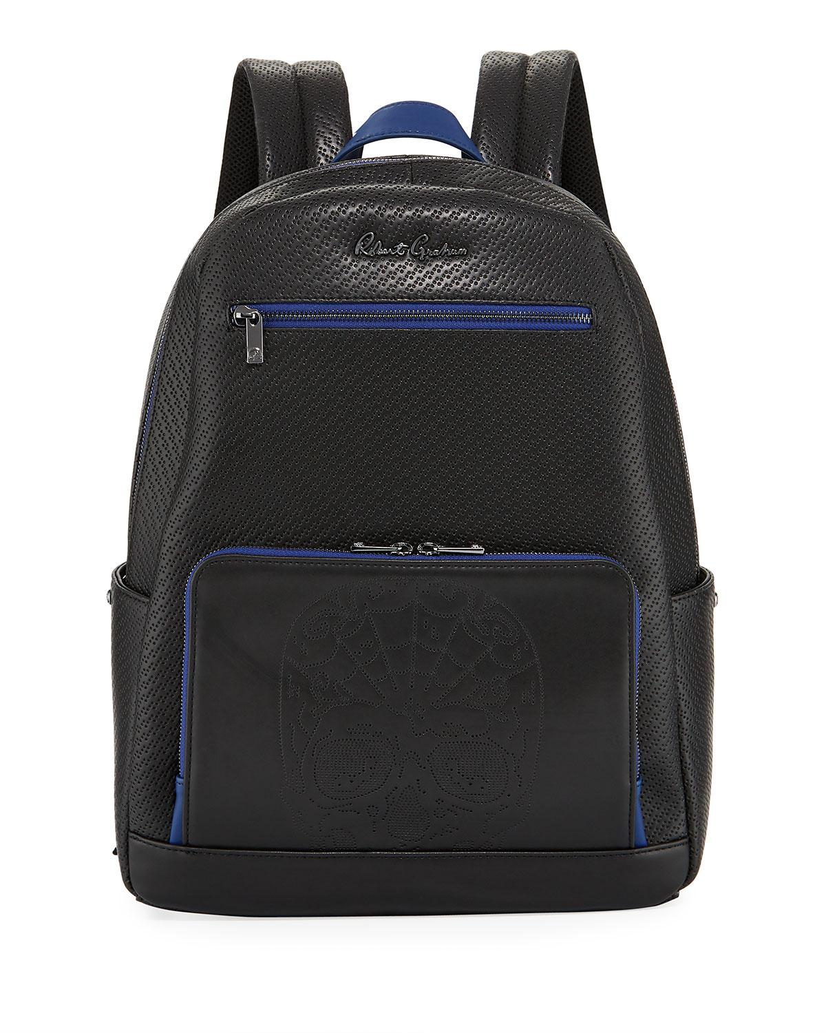 Robert Graham Keller Hill Perforated Skull Faux Backpack In Black