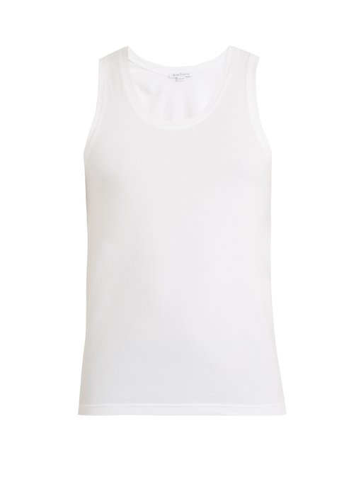 Acne Studios Edvin Stretch-Cotton Tank Top In White
