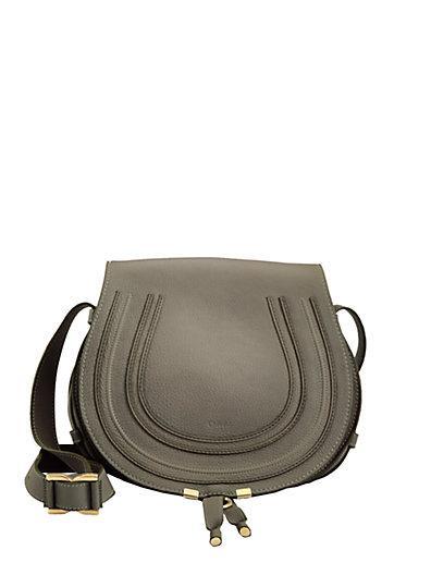 ChloÉ Cashmere Grey Lambskin Leather 'Marcie' Small Crossbody Bag In Ash