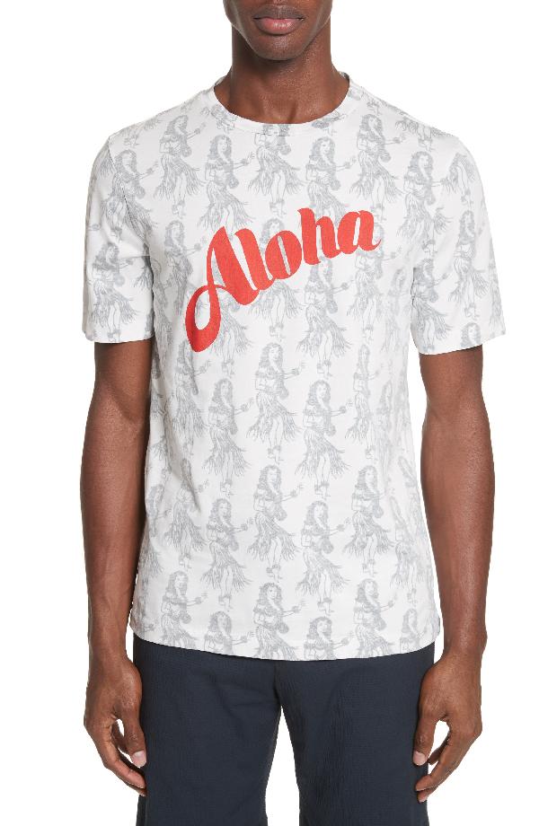 Paul Smith Aloha Print T-Shirt In 01 White
