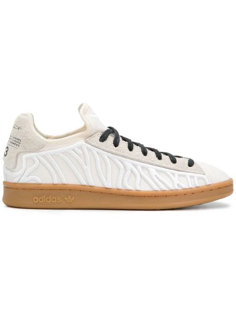 Y-3 Men's Shishu Stan Embroidered Lace Up Sneakers In White