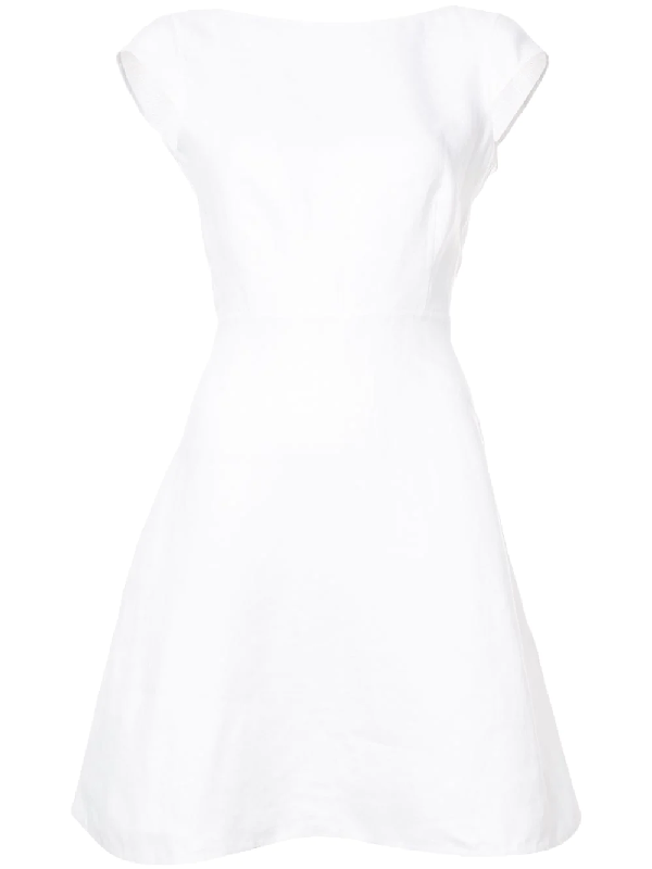 Theory Cap-Sleeve Dress In White