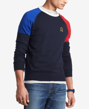 5d4413d04 Tommy Hilfiger Men s Perry Colorblocked Raglan-Sleeve Sweater ...