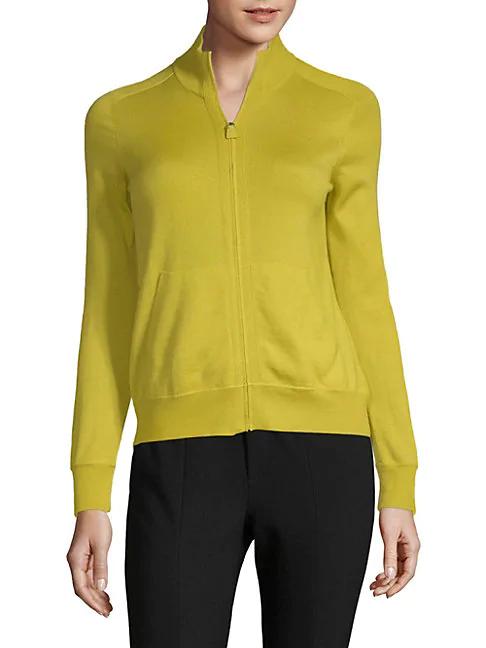Akris Cashmere & Silk Knit Jacket In Tulip
