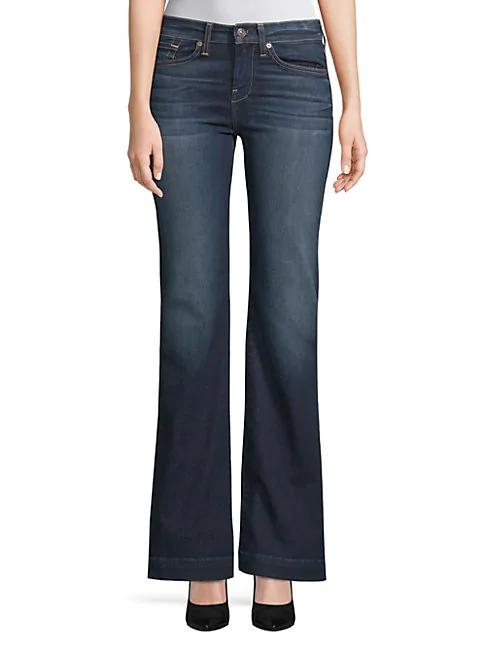 7 For All Mankind Dojo Wide-Leg Jeans In Dark Wash