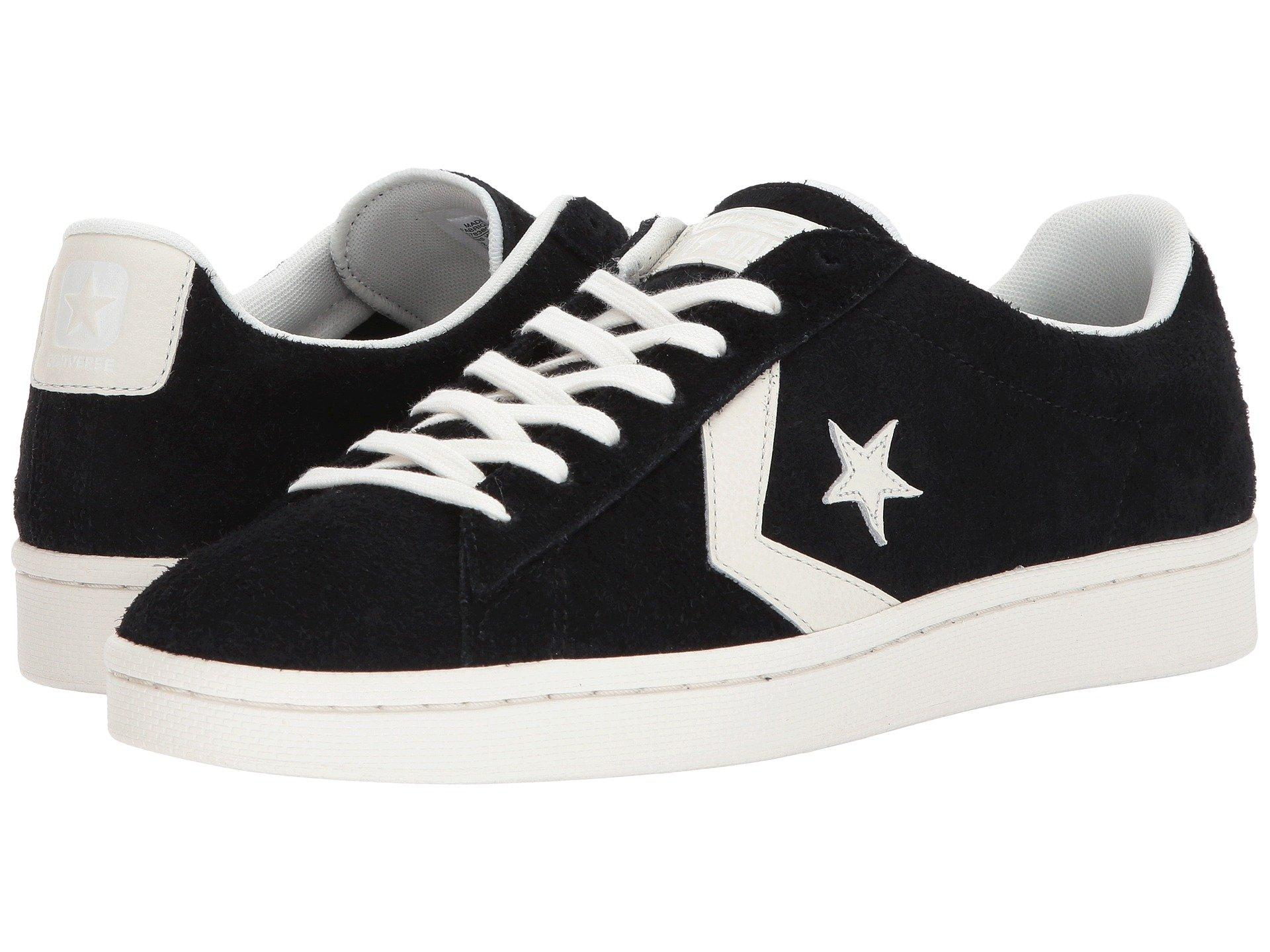 Converse Pro Leather 76 Ox In Black Egret Egret  bf001f1f2