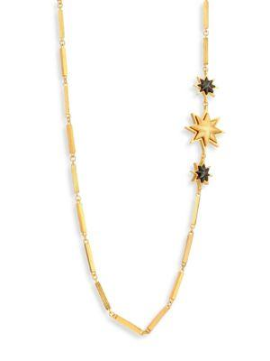Stephanie Kantis Relic Sunburst Column-Link Necklace In Gold