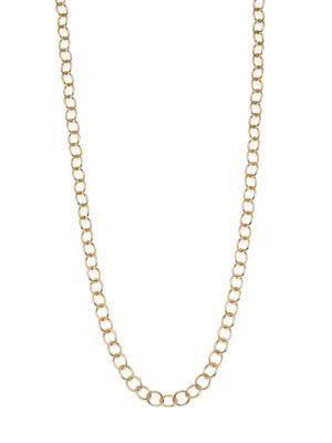 18K Yellow Gold Classic Oval Link Necklace Chain/18