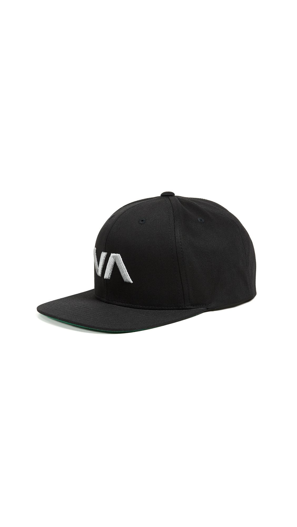 Rvca Va Snapback Ii Hat In Black