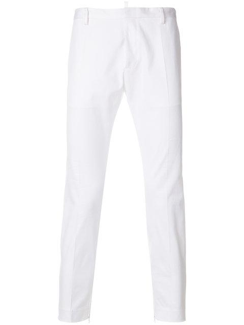 Dsquared2 Cropped Tailored Trousers - White