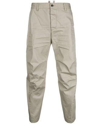Dsquared2 Men's  Beige/Grey Cotton Pants In Brown