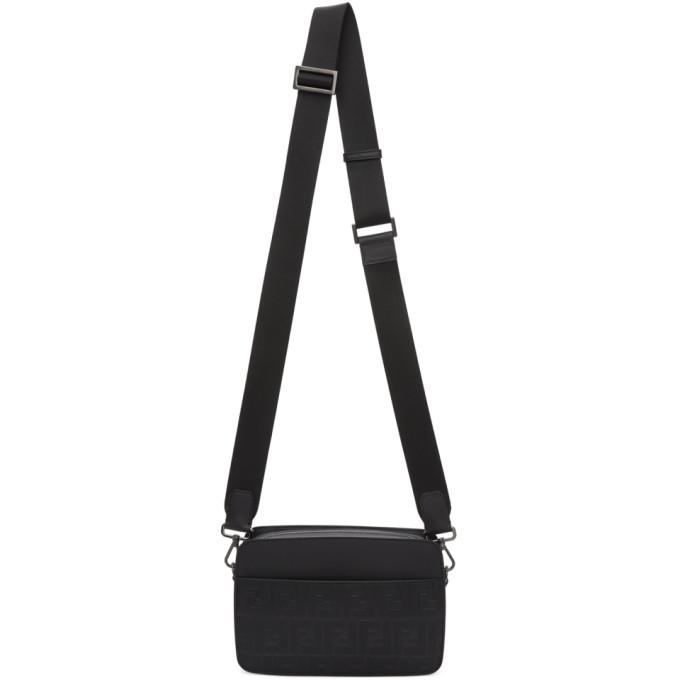 2c7c1543e68d Fendi Black Logo-Embossed Camera Bag In F0Saj