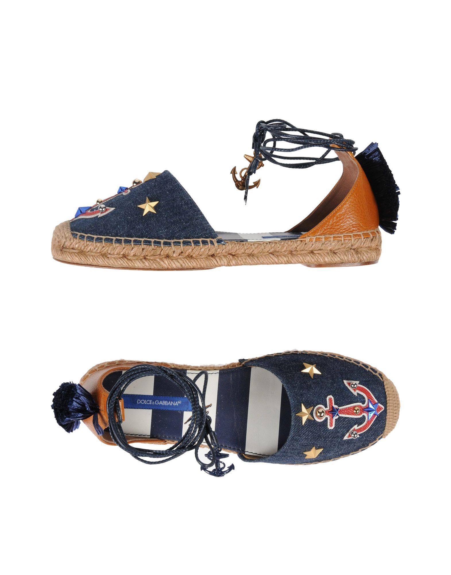 Dolce & Gabbana Espadrilles In Blue