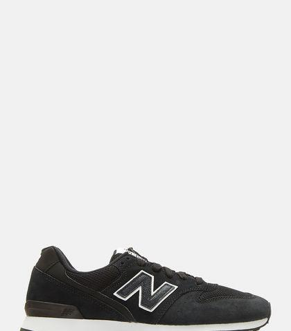 New Balance 996 Suede And Nylon Sneakers In Black