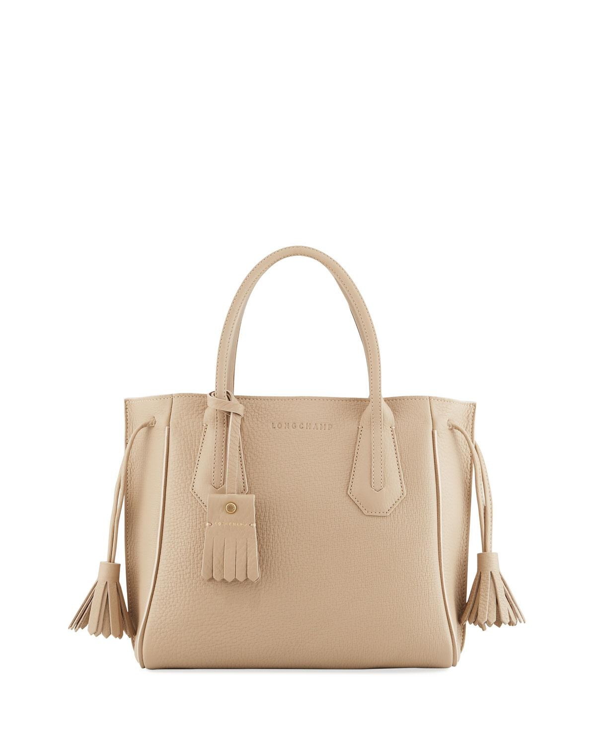 a67a9ce7f Longchamp Penelope Small Leather Tote Bag In Beige | ModeSens