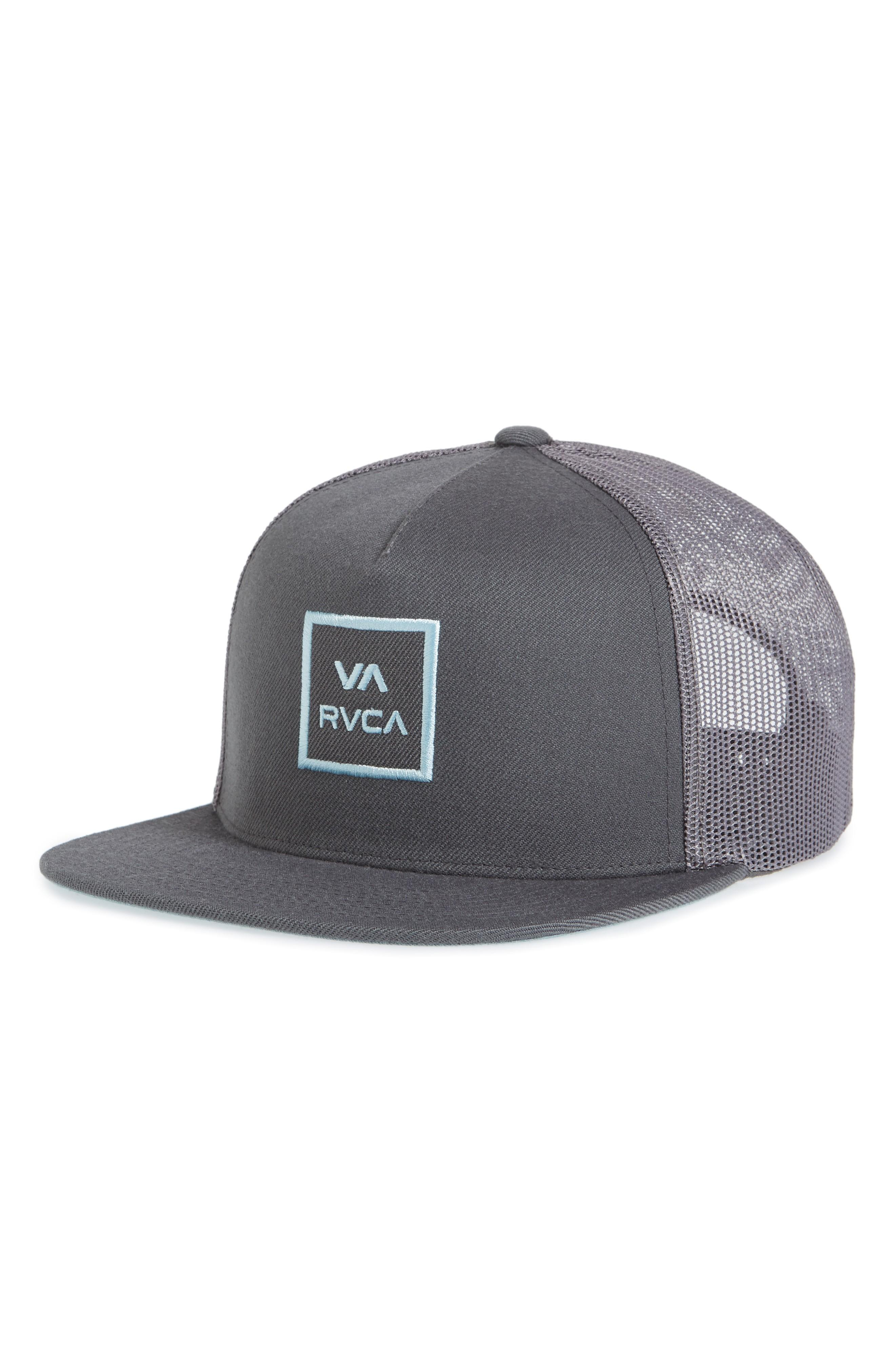 c83216b4fa4b66 Rvca Va All The Way Trucker Hat - Grey In Dark Grey | ModeSens