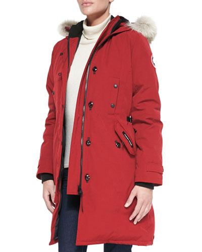 Canada Goose Kensington Fur-Hood Parka In Red