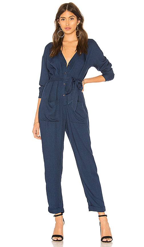 468b7d633e6d Splendid Heavy Crosshatch Jumpsuit In Blue