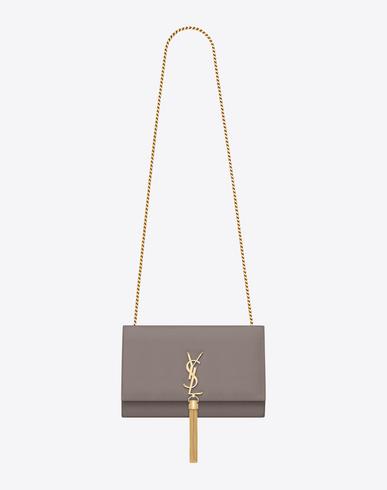 14e2cfd8a18 Saint Laurent Classic Small Monogram Leather Shoulder Bag In Fog ...
