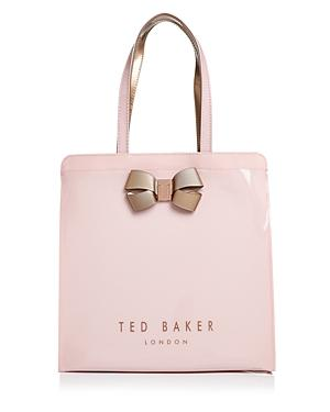 Ted Baker Vallcon Bow Detail Icon Tote In Pale Pink/Rose Gold