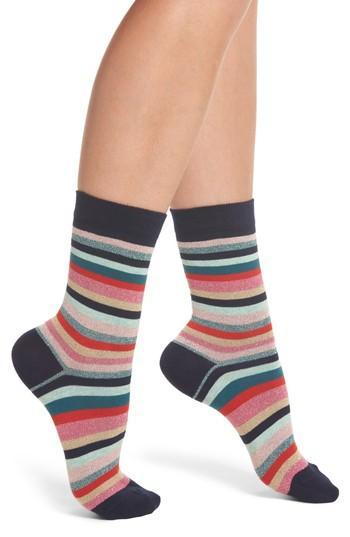 Paul Smith Clarissa Swirl Artist Stripe Crew Socks In Multi