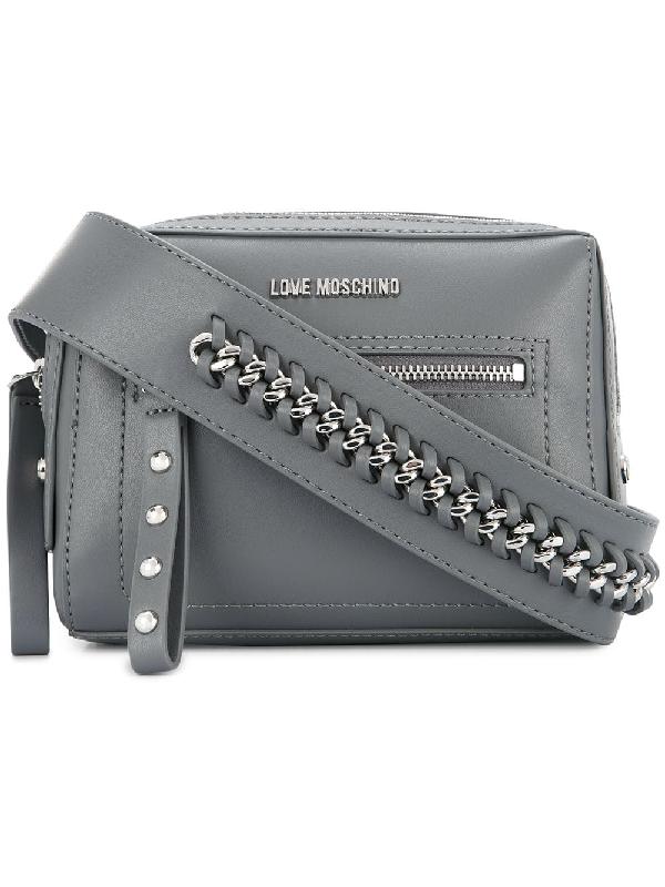 e2114c9342279 Love Moschino Chain Detail Strap Crossbody Bag - Grey | ModeSens
